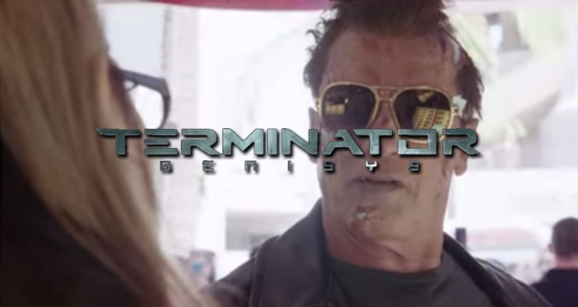 Schwarzenegger promocionando Terminator