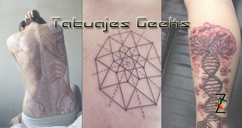 Tatuajes científicos sobre biología, matemática, química y geometría es la nueva tendencia