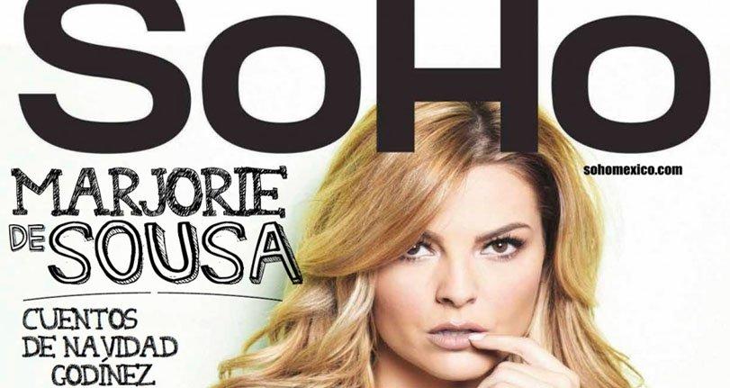 Marjorie De Sousa posa para Soho México, Portada