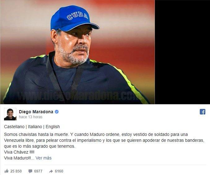 diego maradona -chavista