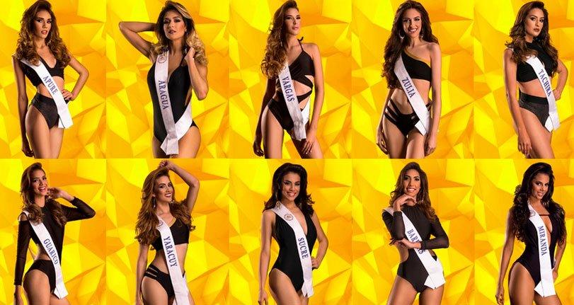 Ellas son las candidatas del 'Miss Turismo Venezuela 2018'