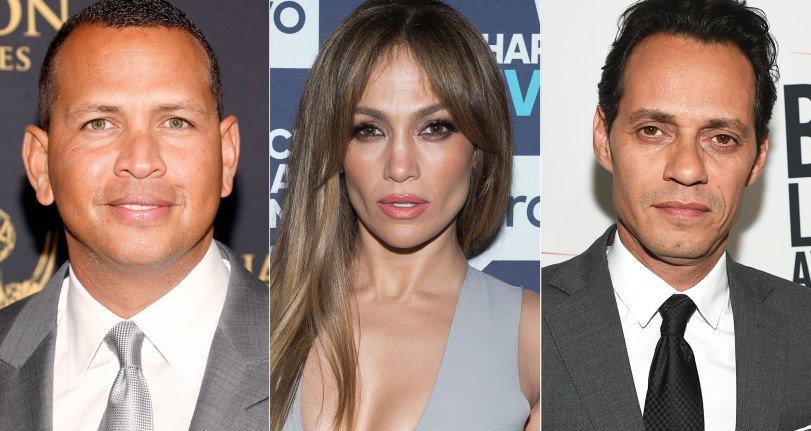 J.Lo, Alex Rodríguez y Marc Anthony disfrutan del recital de sus pequeñas