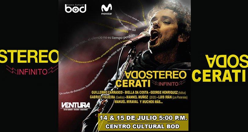 Tributo a Soda Stereo y Gustavo Cerati se ralizará en el Centro Cultural BOD