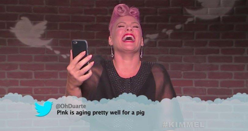 Pink, Gwen Stefani, Miley Cyrus y más tienen excelentes respuestas a la lectura de los tweets malos