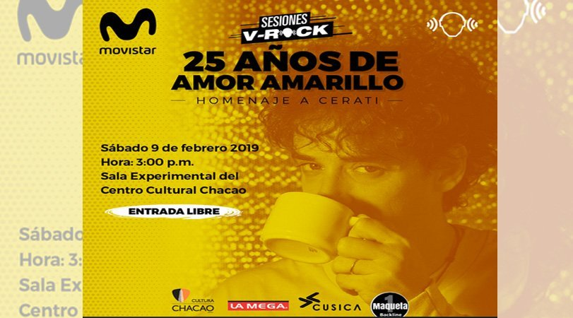Sesiones V-Rock hace homenaje a los 25 años de Amor Amarillo de Gustavo Cerati #9Feb