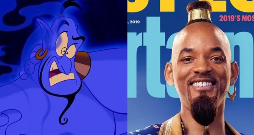 El tráiler de los Grammy de Aladdin da un primer vistazo a Will Smith como el genio azul de Disney